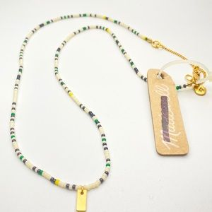 Madewell Market Beaded Necklace w Gold Detail